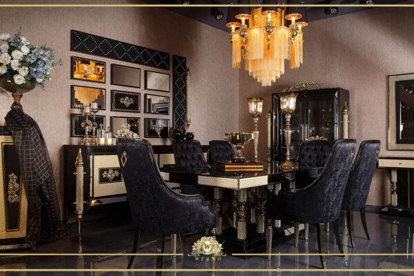 siyah yemek odası avangarde mobilya masko