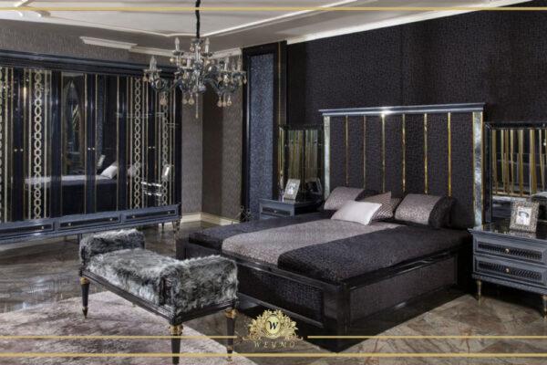 siyah yatak odası masko